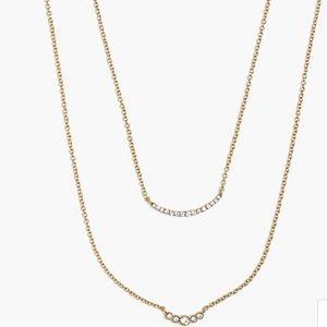 JCrew 2 layer necklace